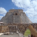"Uxmal, Yucatan. ""The Pyramid of the Magician"""